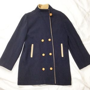 Vintage 60s Navy Double Breasted Pea Coat